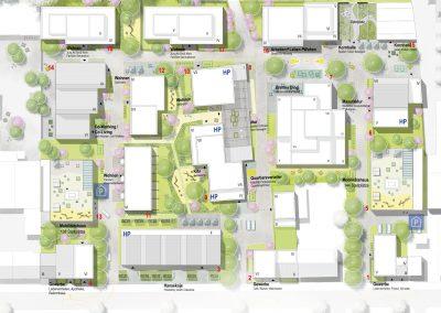 Lageplan Kornquartier Bremen